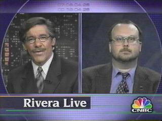 [Geraldo Rivera and Robert J. Sawyer]